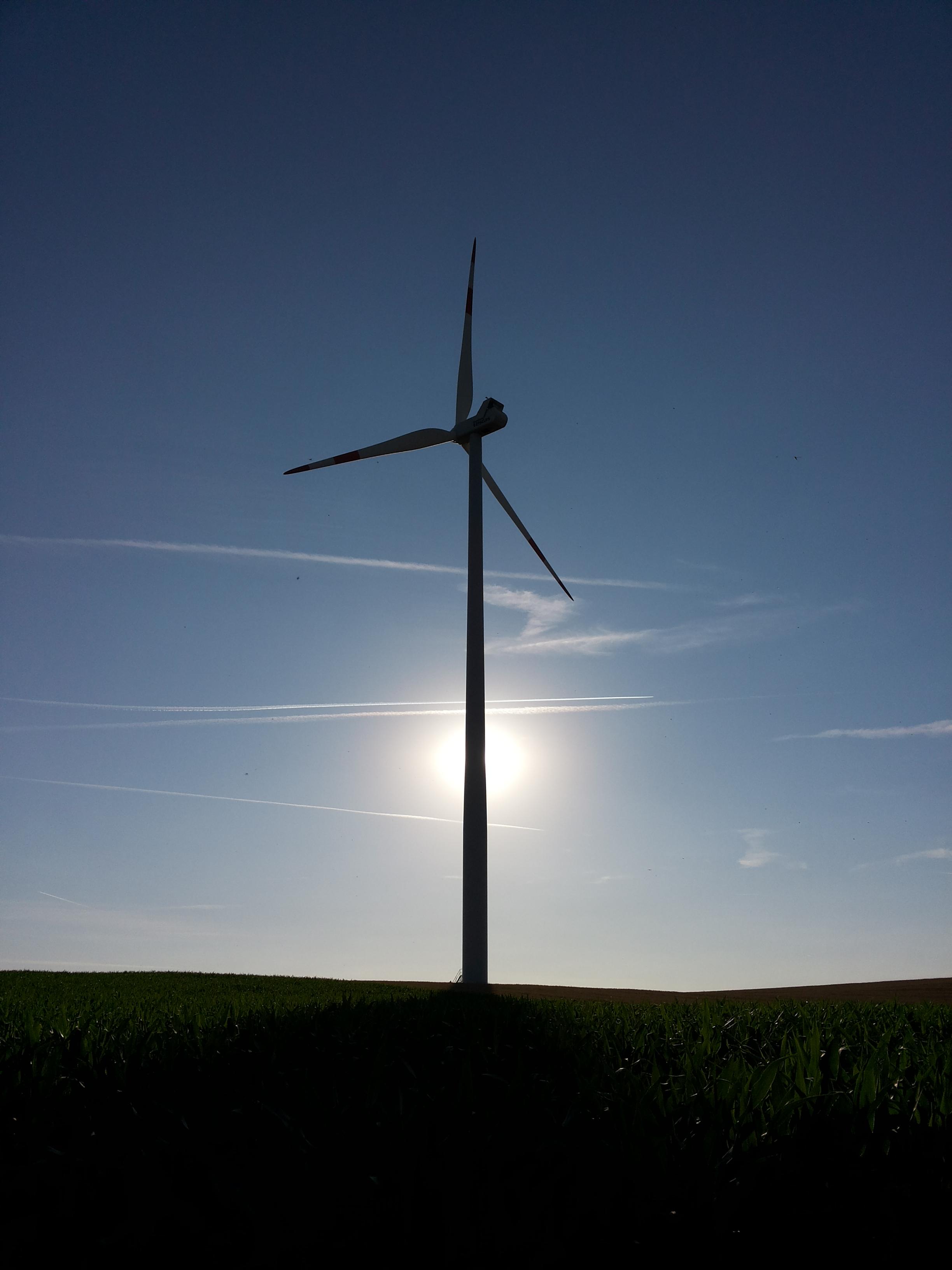 Windkraftanlage im Windpark Bolzhausen