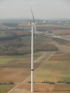 Windkraftanlage im Windpark Mainstockheim