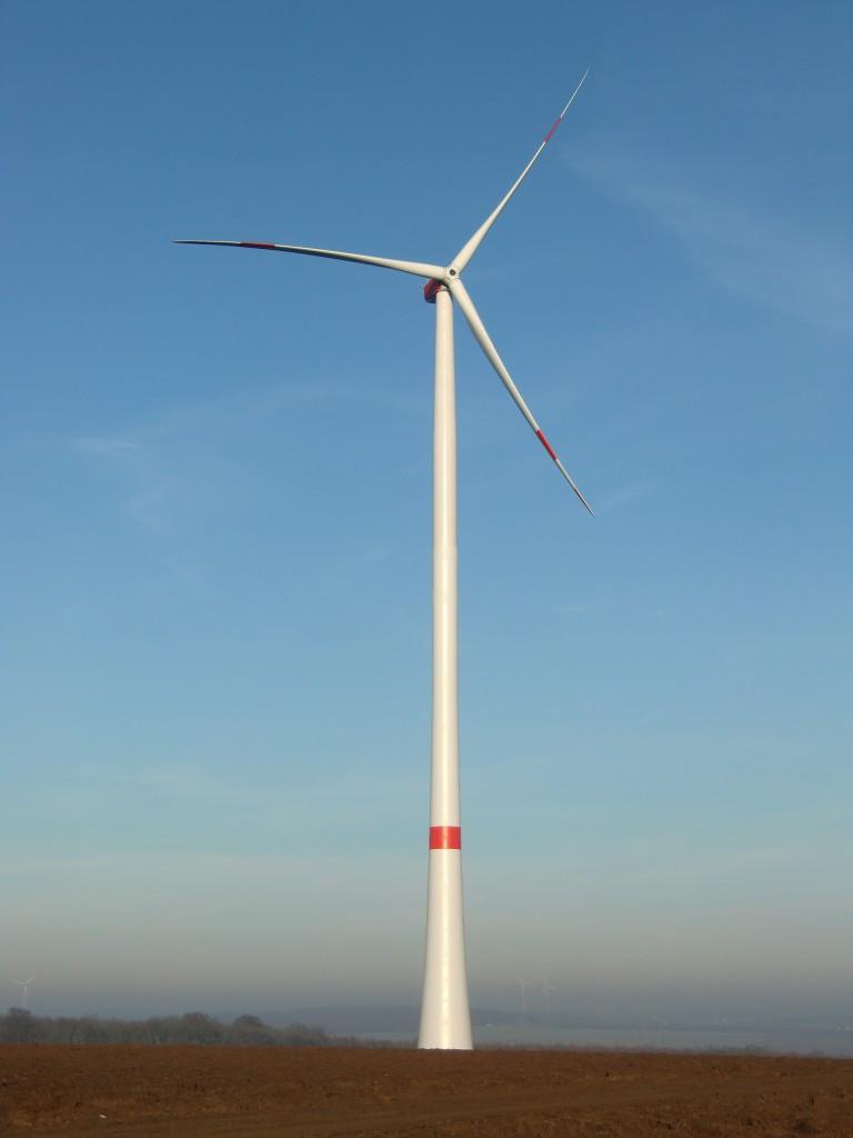 Windkraftanlage im Windpark Hopferstadt